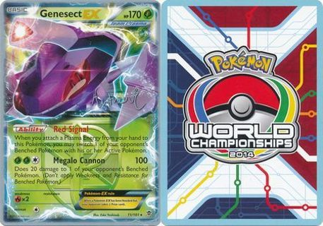 1 Genesect EX - 11/101 - 2014 World Championship Card World Championship 2014 Pokemon Card TCG