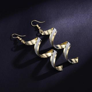 Shineland Gold Silver Black Spiral Long Earrings For Women Fashion Drop  Earrings Zinc Alloy Dangl