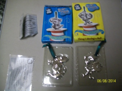 Cat in the hat Christmas ornaments 1993 Burger King