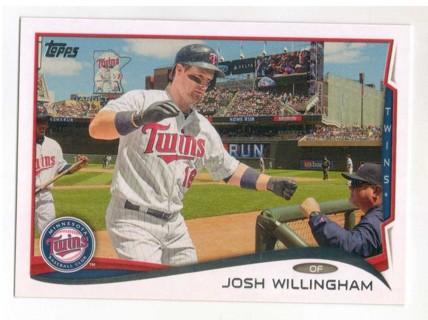 2014 TOPPS JOSH WILLINGHAM ~ MINNESOTA TWINS