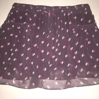 b29459d1b Women's American Eagle Outfitters Fully Lined Purple Heart Mini Skirt Sz  Small