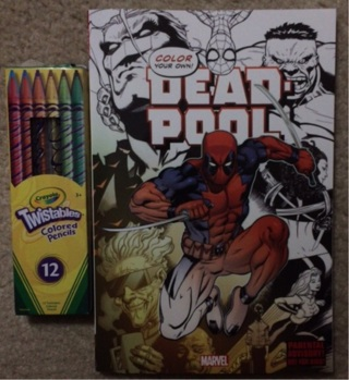 deadpool coloring book with 12 crayola twist of all colored pencils - Deadpool Coloring Book