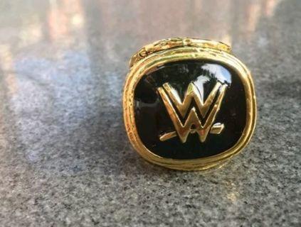 MEN'S SIZE 11 WWE WRESTLING HALL OF FAME 2015 COLLECTORS MEMORABILIA RING 18K GOLD PLATED