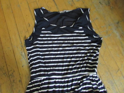 NWOT- STRIPED HI-LOW MAXI DRESS- BY-KRISTINE- SZ XL-