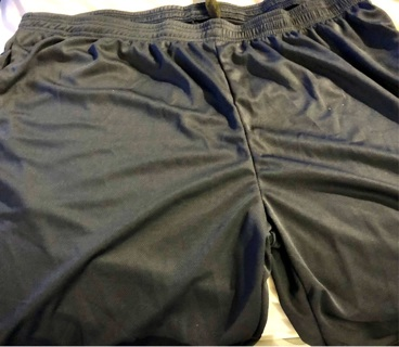 Brand New: Men's Navy Blue  3X Athletic, Side Pocketed, Short Pants. Royal Blue. Draw String Waist