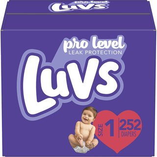 Luvs Ultra Leakguards Disposable Baby Diapers Newborn , ONE MONTH SUPPLY