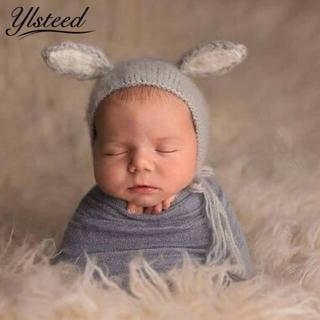 Baby Pointted Ears Bear Hats Newborn Mohair Photography Costume Khawaii Baby Caps Crochet Beanies