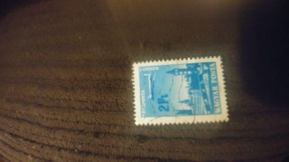 Leciposta london magyar posta stamp 2Ft