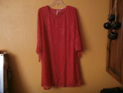 NEW LARGE RED DRESS with Tags