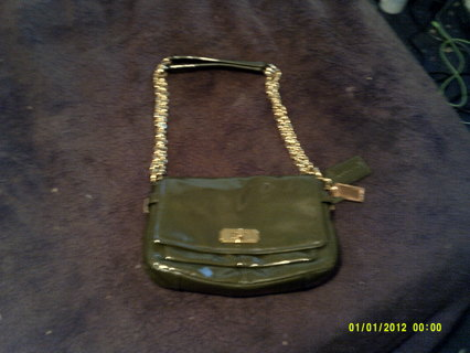 8cb26c655cc FREE: NWOT Olive Green Patent Leather Coach 17854 Handbag!!! EUC Only Used  Once