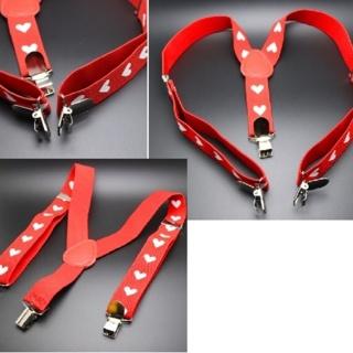 Heart Suspenders valentines day Baby Girls