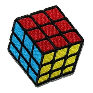 RETRO Rubik's Cube IRON ON PATCH CLOTHING ACCESSORIES