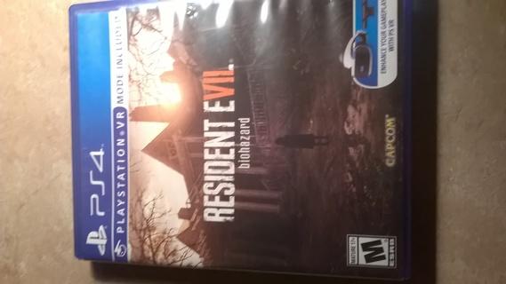 Resident Evil 7 PS4 game