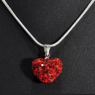 Loving Red Sparkling Hearts earrings and necklace