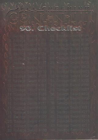 All-Chromium 1995 Conan III Collectible Trading Card Checklist #90