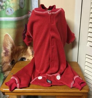 Pet Rage US Designs Red Dog Pajamas(P.J.s) Medium
