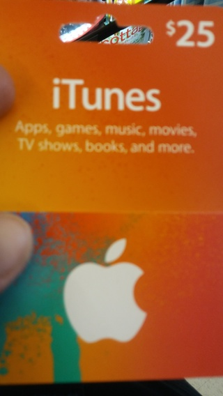 Itunes gift card 25