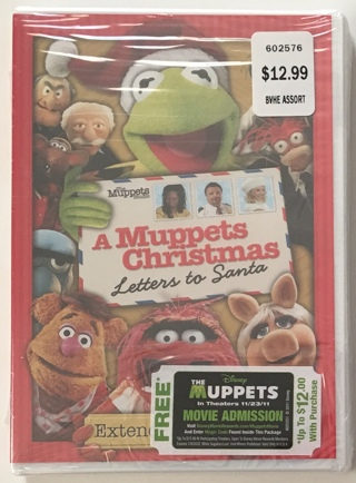 Disney A Muppets Christmas: Letters To Santa DVD Movie - Brand New Sealed!