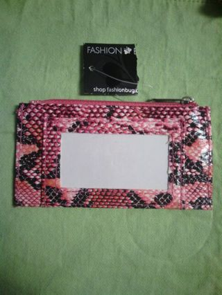 Mini pink wallet