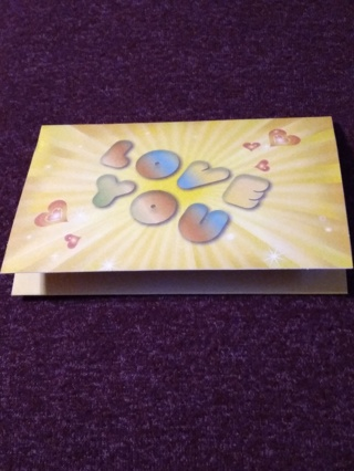 Kisses Pop-Up Notecard - Love You