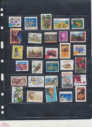 (30) Stamps from Austrlia,  All Different, Vintage, Used, Cancelled - AUS-112