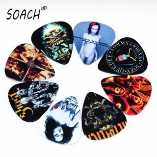 SOACH 10pcs Newest Custom-made band Guitar Picks Thickness 0.46mm Guitar Accessories