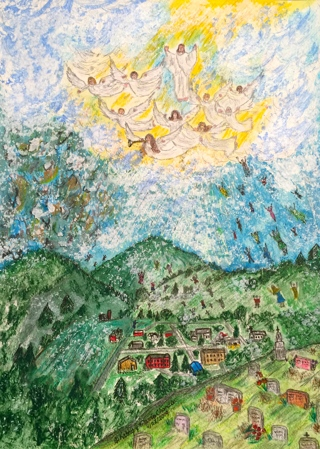"Jesus Returns ""The Rapture"" Watercolor Print 11 X 15 by Kathy Marrs Chandler"
