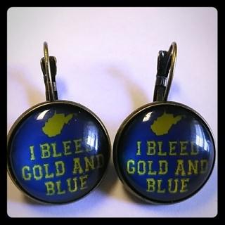 WV Mountaineer Fan Earrings