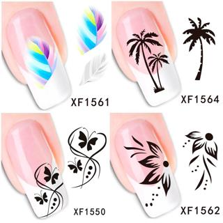30 Styles! Fashion Nails Art Manicure Decals Cute Design Water Transfer Stickers For Nails Tips Be