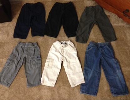 LOT of Boy's Clothing - Various Sizes w/No Rips, Tears Or Stains!