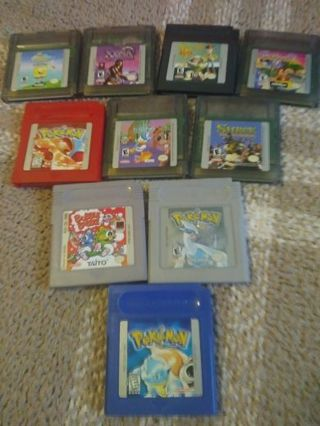 A large lot of game boy games