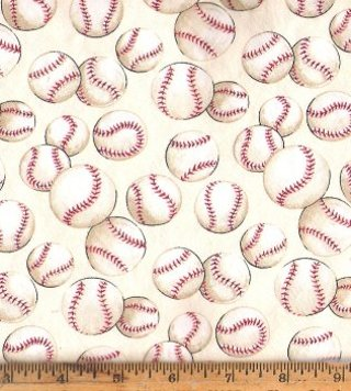 Free: 100% Cotton BASEBALL Fabric for Quilting / Crafts - Other ... : baseball fabric for quilting - Adamdwight.com