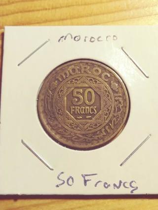 Morocco 50 Francs Coin! 99