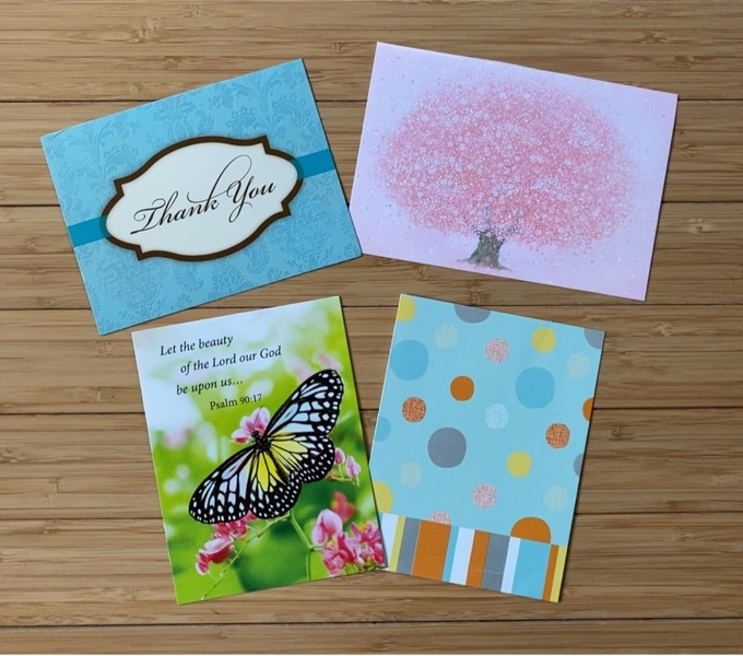 free four thankyou card tops only  office supplies