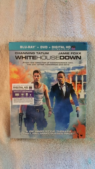 WHITE HOUSE DOWN BLU RAY + DVD = DIGITAL HD ULTRAVIOLET (EXPIRES 12/16) BRAND NEW NICE HOLIDAY GIFT