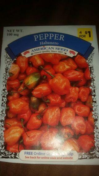 Habanero peppers, 100 mg.