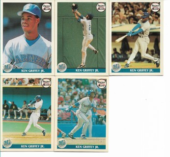 Free 5 1991 Front Row Ken Griffey Jr Promo Cards