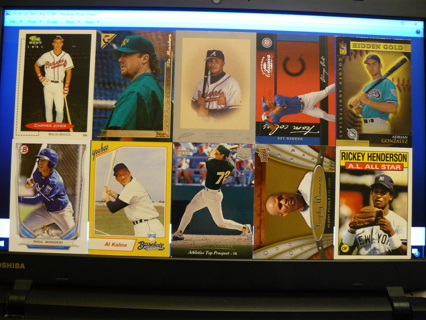 (10) Baseball Cards Stars, HOFers, Serial #'d or Inserts - LOT 13 - Read Details