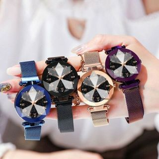 [GIN FOR FREE SHIPPING] Luxury Starry Sky Stainless Steel Mesh Quartz Watch