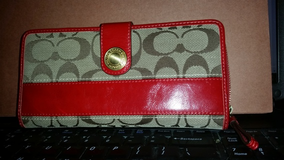 Full Size Authentic Coach Signature wallet #41631