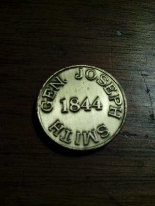"""""""GEN. JOSEPH SMITH FOR U.S:PRESIDENT""""1844 Token"""