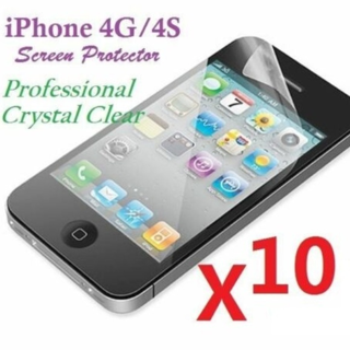 NEW Apple iPhone 4 / 4S Screen Protector (10-PACK)