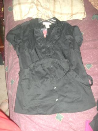 NWT No Boundaries Black Dress Shirt