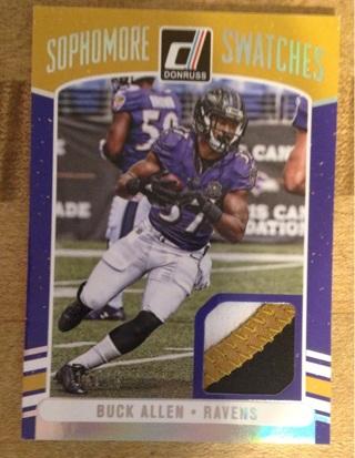 2016 panini buck Allen Ravens 3 color patch football card