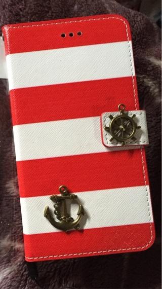 iPhone 6/6s plus Red sailor stripe case