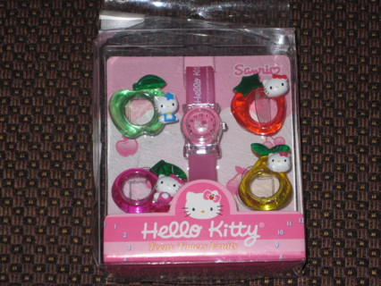 NEVER USED Hello Kitty Sanrio Takara Watch With Changeable Faces