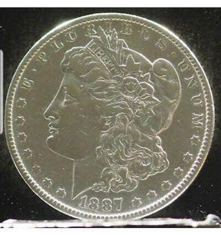 * Beautiful 1887-O Morgan Silver Dollar *** MIRROR LIKE ****