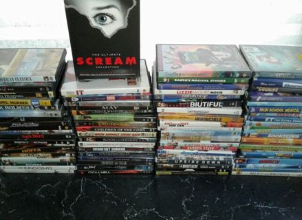 U get All~80 DVD's Movies/ Cases PLUS Mint and some New