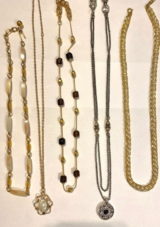Pre owned 5 signed necklaces