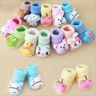 Newborn Baby Boy Girl Anti Slip Shoes Animal Cartoon cotton Slippers Boots Socks